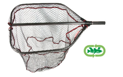 Trabucco pro large landing net folding rubber mesh  extending handle 3 types ava