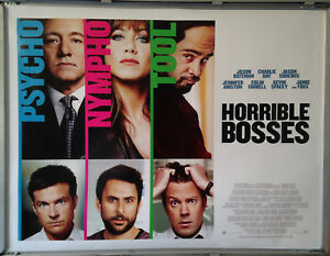 Cinema Poster Horrible Bosses 2011 Quad Kevin Spacey Jason Bateman Ebay