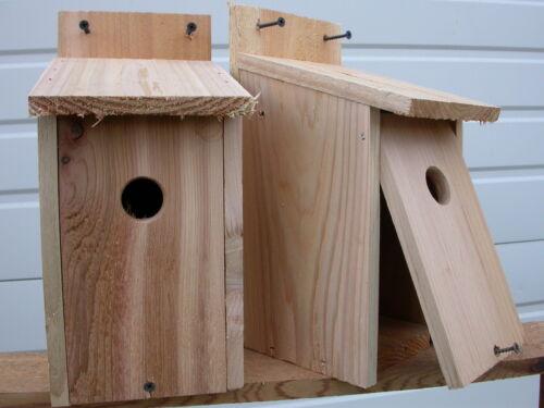 RED CEDAR ..HOLE SIZE 1  1//8 fully assembled free s//h 4 WREN  BIRD HOUSES NEST.