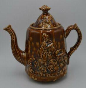 Antique-Bennington-Rockingham-Pottery-Rebekah-at-the-Well-Teapot-with-Lid-8-034