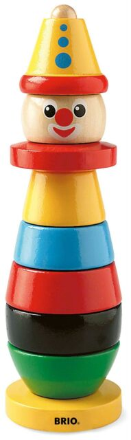 Brio STACKING CLOWN Baby Infant Toddler Wooden Toy BNIB