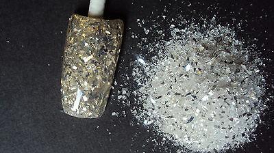 glitter mix acrylic gel nail art   crafts    WHITE DIAMONDS