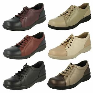 93cbd4c1904bb LADIES EASY B DB PHOEBE LACE UP LEATHER CASUAL FLAT WIDE FITTING ...
