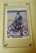 John Vanbiesbrouck Hockey Rangers 1990-91 Upper Deck Signed Autograph Card