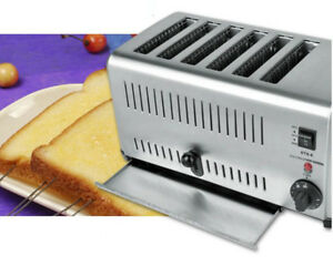 f5b963f52 Image is loading Commercial-Portable-Electric-6-slice-Bread-Toaster-Machine-