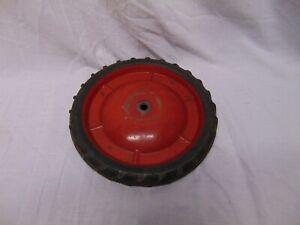 vintage-Pedal-derby-soap-box-midget-car-wheel-9-1-2-034-solid-tire-red-rim-USA