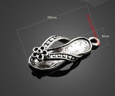 PJ1096  10pc Retro Tibetan Silver(slippers Pendant)Jewelry Accessories wholesale