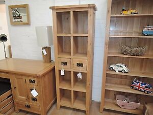 Image Is Loading Vancouver Premium Oak Tall 180cm 2 Drawer Sy