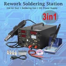 3 In 1 Soldering Rework Station 853d Solder Iron Smd Hot Air Gun Dc Power Supply