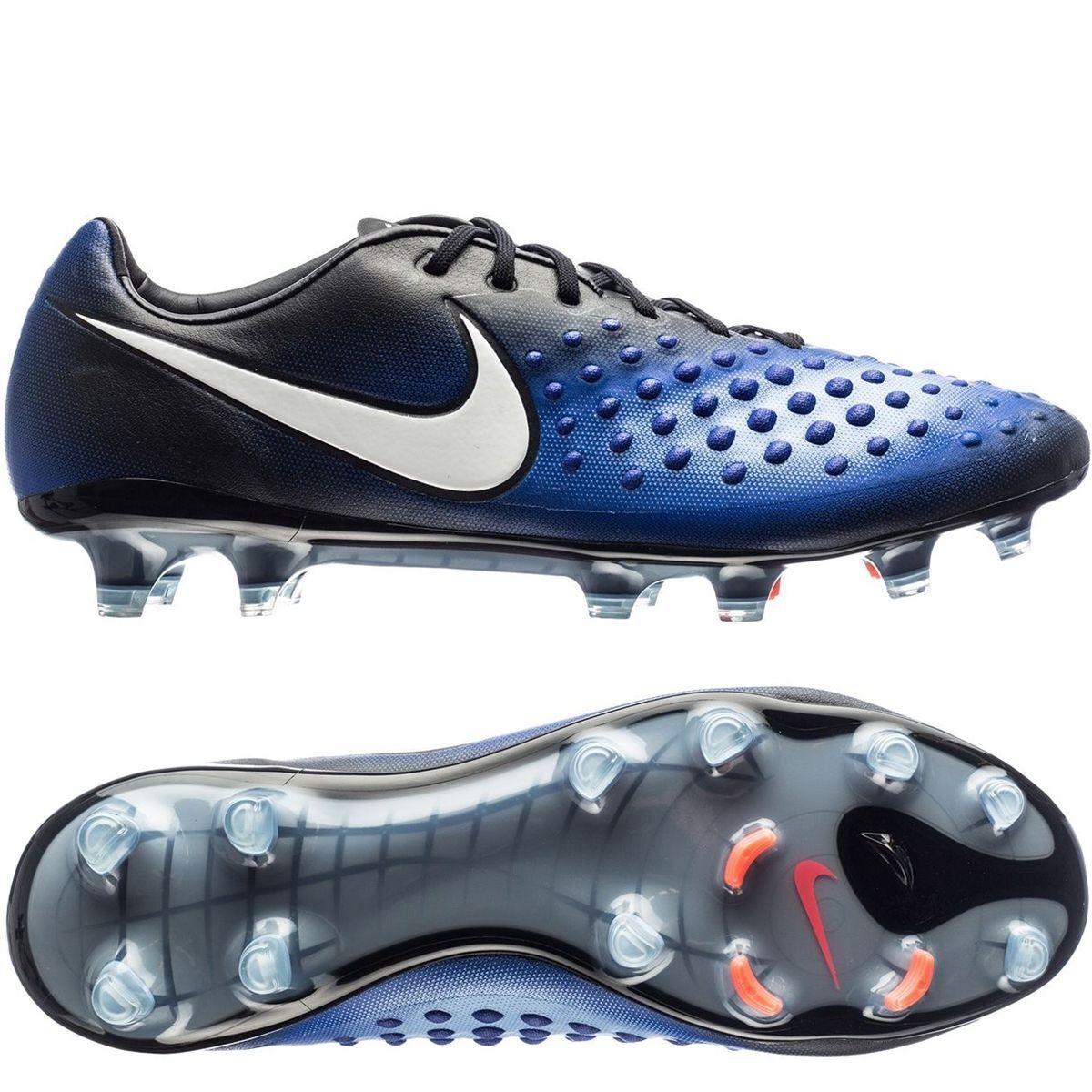 Nike Magista Opus II FG Botines botas Talla 8 Azul Negro [843813-018]