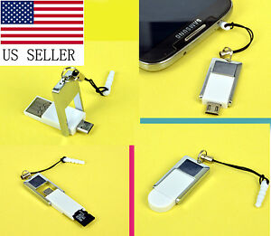 Tiny 5-Pin Micro USB Host OTG Adapter Micro SD Card Reader For Android Phone