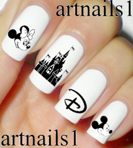 Disney-Mickey-Minnie-Nail-Art-Water-Decals-Stickers-Manicure-Salon-Mani-Polish