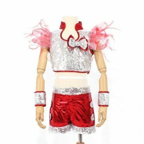 Kinder Jungen Mädchen Kostüm Jazz Glitzer Anzug Pailletten Funkelnd Modern Dance
