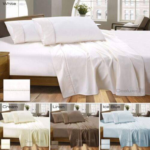Super Deep 50cm Wall 100/% Egyptian Cotton Sateen Sheet Set 800TC