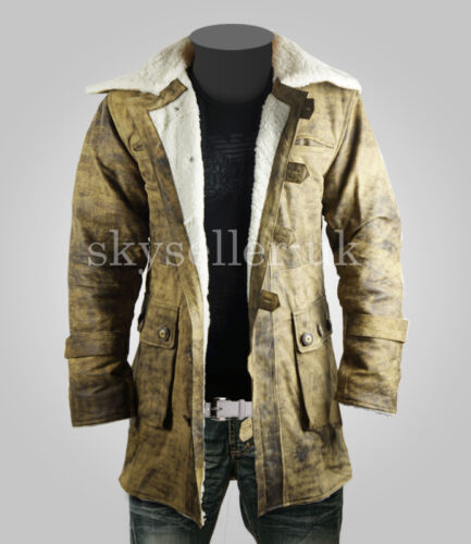 Coat Minifig Cavaliere Oscuro sorge Cowhide effetto invecchiato Lucidatura Brown Leather Jacket