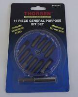 Thorsen 156293 11 Piece General Purpose Bit Set Drill Bit Set Screw Bits