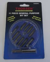 Thorsen 156293 11 Piece General Purpose Bit Set Drill Bit Set Screw Bits