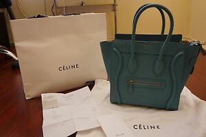 9f58fd811f ... buy celine nano - 100 Authentic Celine Antarctic Goatskin Leather Micro  Luggage Tote . ...