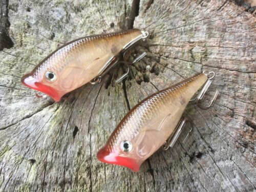 2x Scoop Popper Topwater Fishing Bass Lure Lures Tailor Saratoga Lures Free Post