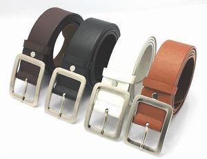 Luxury-Leather-Buckle-Belt-Casual-Dress-Men-039-s-Womens-Jeans-Waistband-Waist-Strap