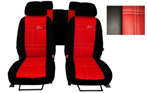 Octavia Universal Red EcoLeather Full Set Car Seat Covers Skoda Rapid