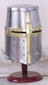 Medieval-Templar-Crusader-Knight-Armor-Helmet-Armor-Templar-Helmet-Halloween-New