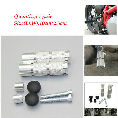 2pcs Silver Motorcycle Footrests Footpegs Foot Pegs Pedals Cnc Aluminum Ebay