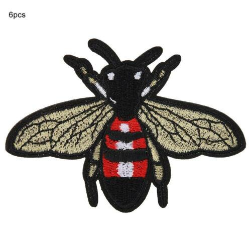 6 X Mignon Bee Flying Embroidery Applique Patch Sew Iron badge Vêtements Jeans decor