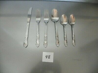 Capistrano Oneidacraft Deluxe Stainless Steel set of 6 Place Setting Table Soup Spoons