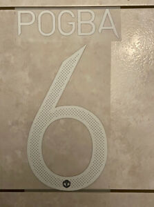 Flocage Nameset Pogba #6 Manchester United 2020-2021 Home Away. Cup