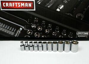 Craftsman-1-4-034-SAE-Socket-11pc-6pt-5-32-3-16-7-32-1-4-9-32-5-16-11-32-3-8-9-16