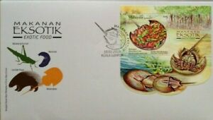 Malaysia FDC with Miniature Sheet (19.02.2019) - Exotic Food
