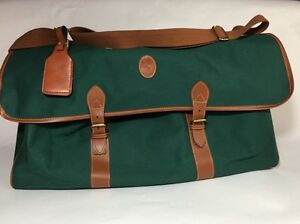05ed1c879d Image is loading Vintage-Polo-Ralph-Lauren-Green-Duffel-Weekender-Travel-