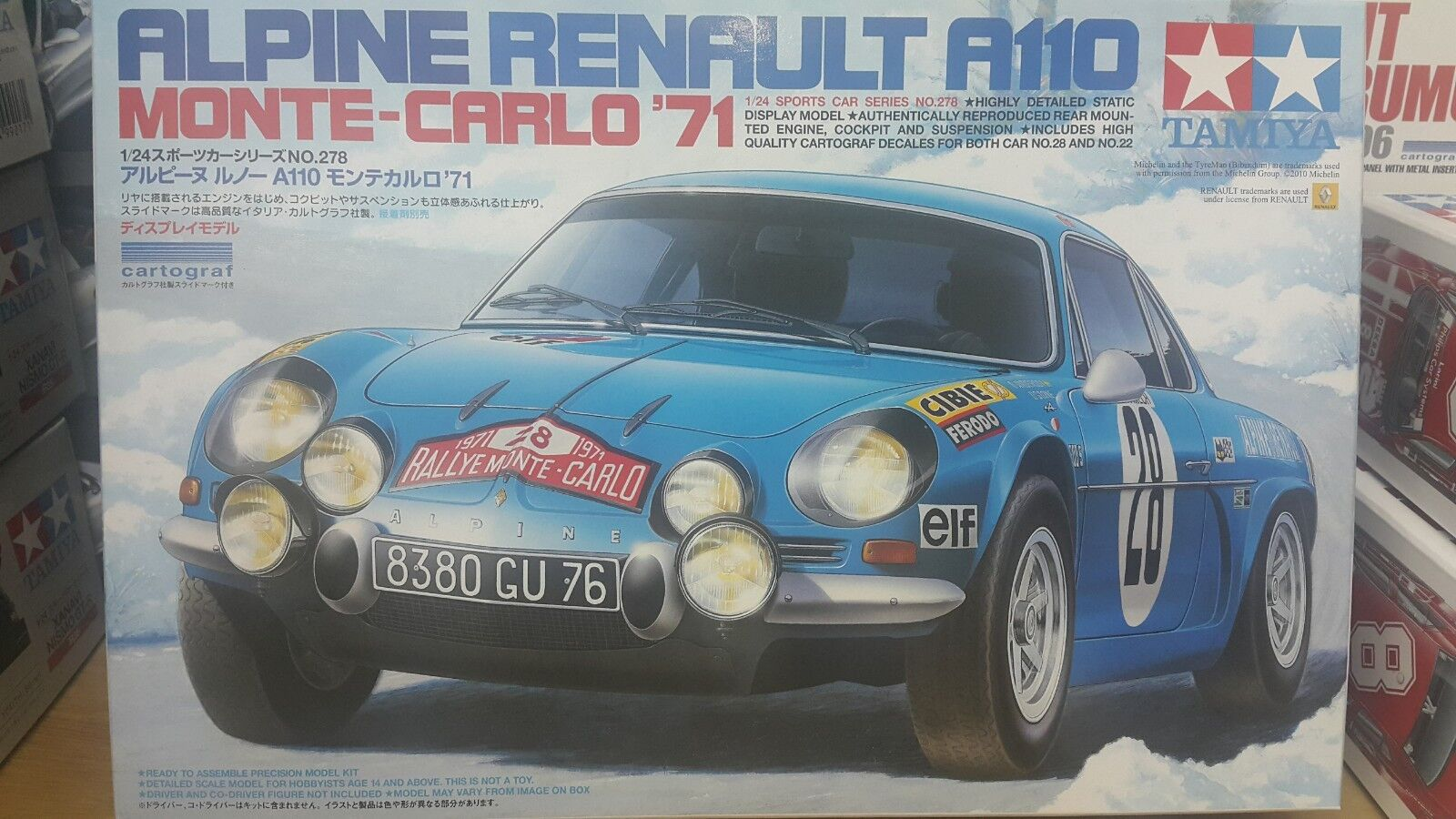 Tamiya 1 24 Renault Alpine A110 Monte Carlo`71 Model Car Kit