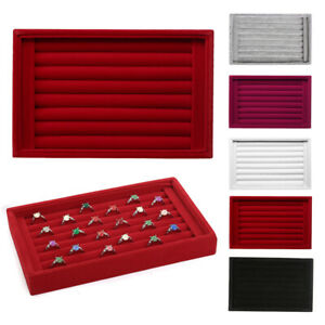 Velvet-Jewelry-Wood-Ring-Display-Organizer-Box-Tray-Holder-Earring-Storage-Case