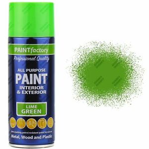 All-Purpose Aerosol Spray LIME GREEN Paints 400ml Exterior Interior on lime green engine paint, lime green decorating accessories, lime green spray paint, lime green paint swatches, lime green model paint, lime green chrome paint, lime green flat paint, lime green bedroom paint, grey green exterior paint, lime green matte paint, lime green paint samples, lime green interior paint, lime green room decorating ideas, lime green automotive paint, lime green exterior door frame, lime green painting ideas,