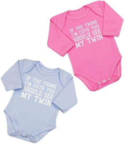 BABYPREM Baby Clothes 2 X TWINS TWIN BOYS GIRLS Cute Bodysuits Vests Singlets