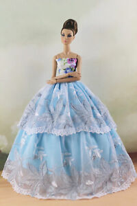 Fashion Party Princess Dress Wedding Clothes//Gown For 11.5 inch Doll a05
