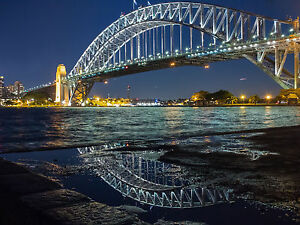 PRINT POSTER sydney bridge photo harbour  photo  Australia Fits A0 Glass Frame