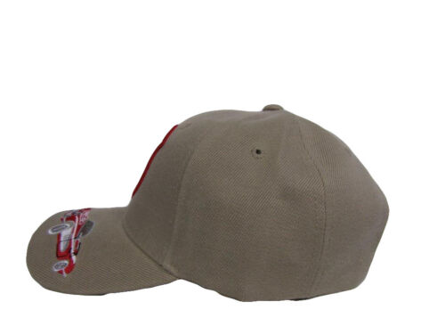 Route 66 US Highway Car Tan Khaki Shadow Embroidered Ball Cap Hat