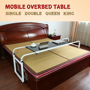 Mobile Over Bed Laptop Trolley Desk, Overbed Hospital Medical Table w