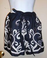 Ambrielle Ladies Sheer Front Drawstring Waist Lounge Sleep Shorts Black M