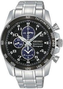 Seiko SNAE63 SNAE63P1 Sportura Mens Alarm Chronograph Watch WR100m RRP $795.00