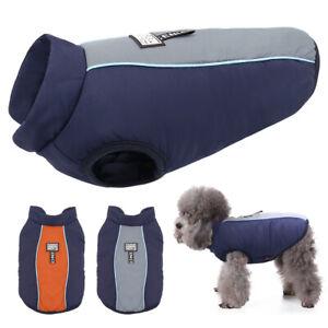 Winter-Wasserdicht-Hundebekleidung-Franzoesische-Bulldogge-Hundemantel-Weste-Grau