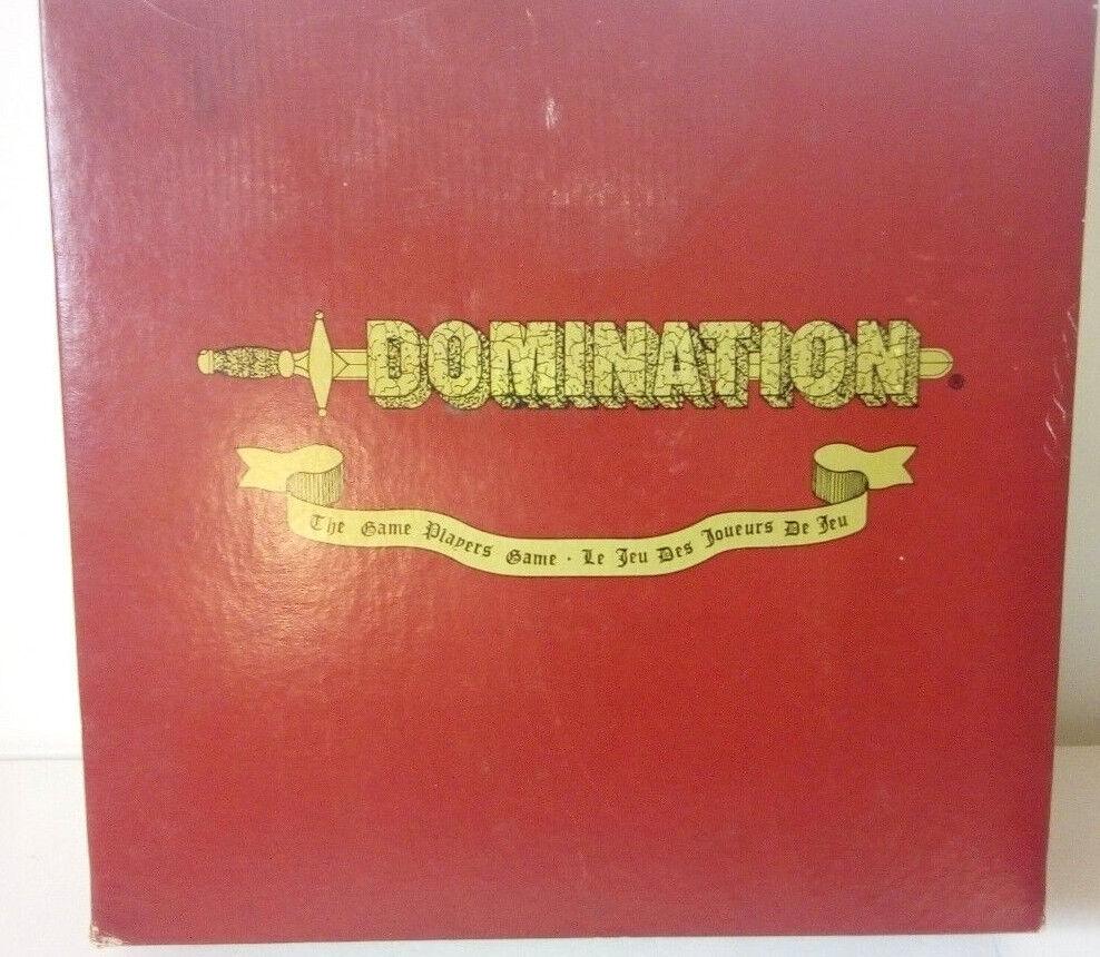 Unique board board board game--DOMINATION-Strategy game-Complete/Unused-with original box 5c3d48