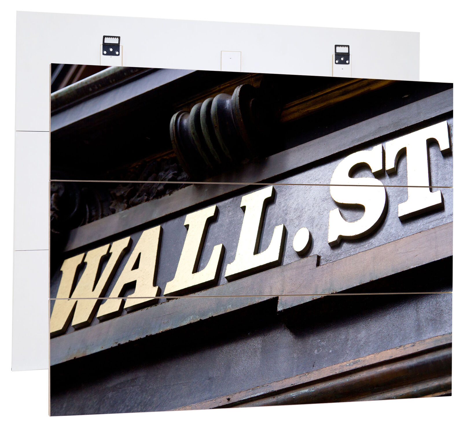 Wall street New york-MDF-panneau bois au bretterlook, décoration
