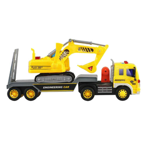 1:16 Inertia Truck Engineering Vehicle Car With Excavator Car Toy Gift
