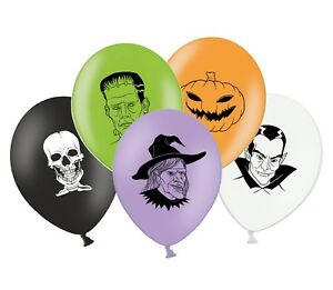 Halloween-mix-12-034-Imprime-Latex-Assortiment-Ballons-Melange-Personnages-Pack-de-8