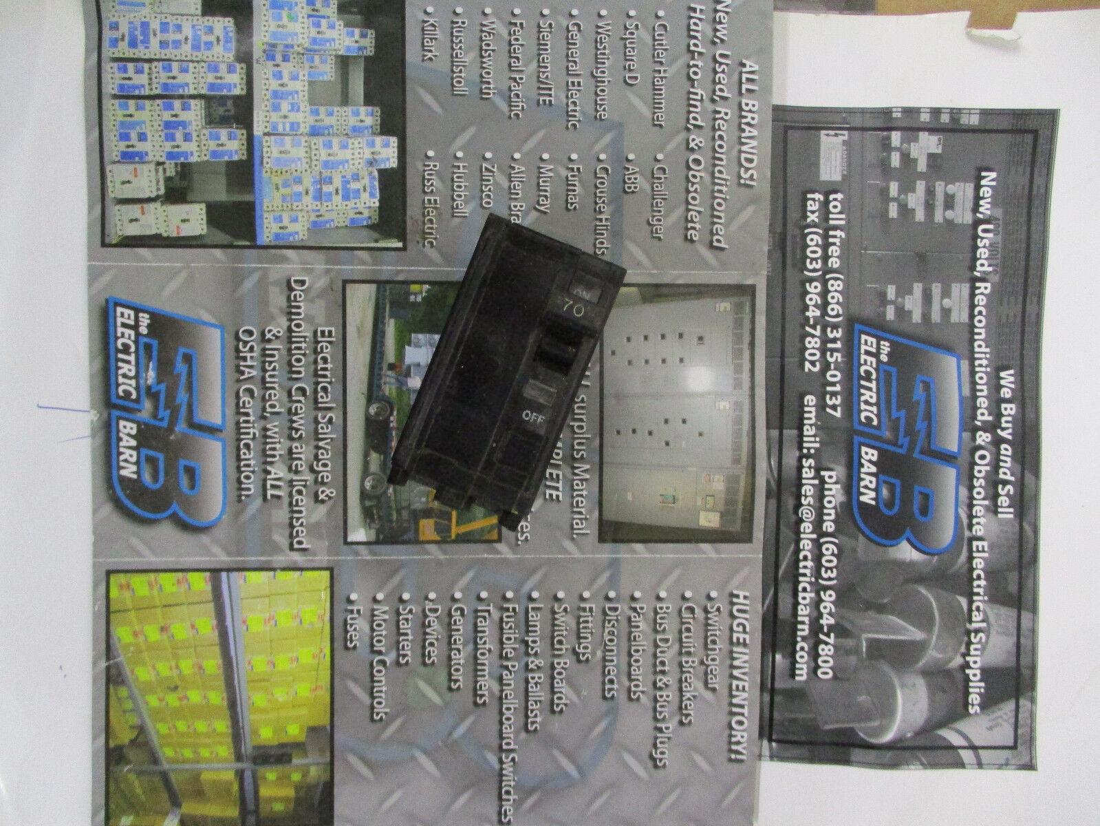 Square D Type Qo 2 Pole 70a 70 Amp Circuit Breaker Guaranteed YW QO270 |  eBay