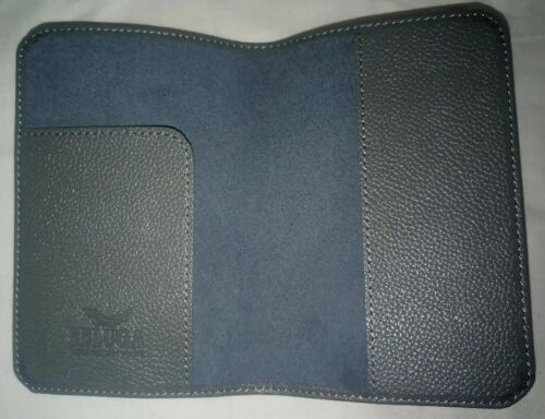 New In Box Beluga Noble Russian Vodka Leather Grey Passport Holder Cover Wallet